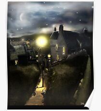 """The """"Hie Gait"""" : Dysart, Fife in Scotland [Digital Architecture Illustration] Poster"""