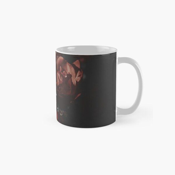 Moody Red Floral Background Classic Mug