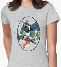 Bbrae Comic Cover Color Womens Fitted T-Shirt