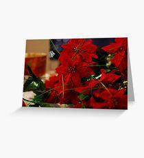 Christmas Poinsettias Greeting Card
