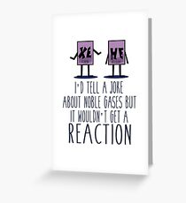 Xe He Chemistry Pun Greeting Card