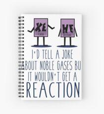 Xe He Chemistry Pun Spiral Notebook