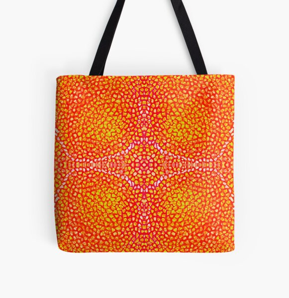 Red Coral Structure All Over Print Tote Bag