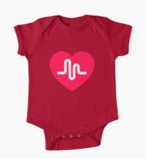 Musically musical.ly musicly heart One Piece - Short Sleeve
