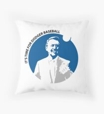 Vin Scully Throw Pillow