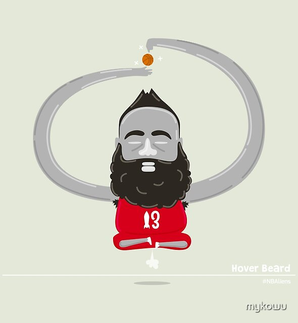 James Harden Hover Beard by mykowu