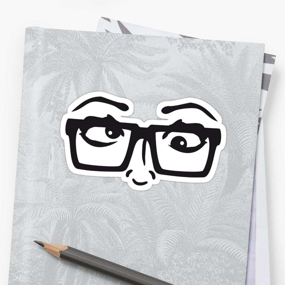 Eyes Crazy Nerd Girl Funny Grimace Horn Glasses Sexy Hot Cute Stupid Insane