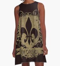 New Orleans Crest Fleur De Lis Louisiana  A-Line Dress