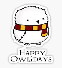 Happy Owlidays Sticker