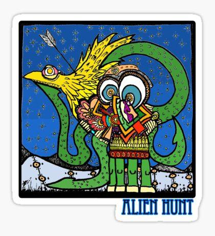 Alien Hunt Sticker