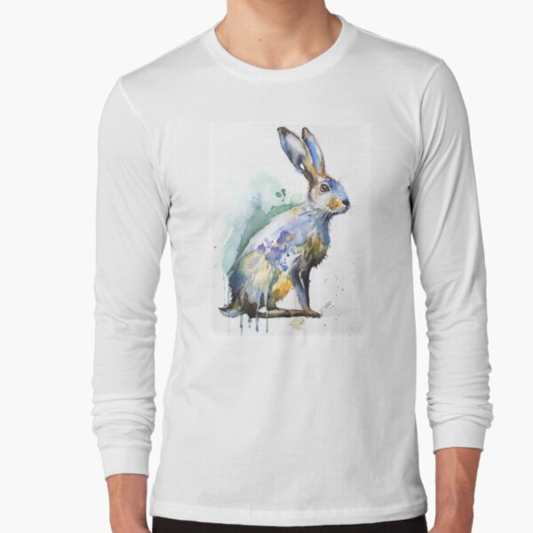 Hare watercolor Long Sleeve T-Shirt