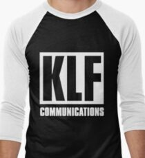 KLF Communications (white bg, black letters) Men's Baseball ¾ T-Shirt