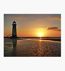 Sunset Talacre Lighthouse Photographic Print