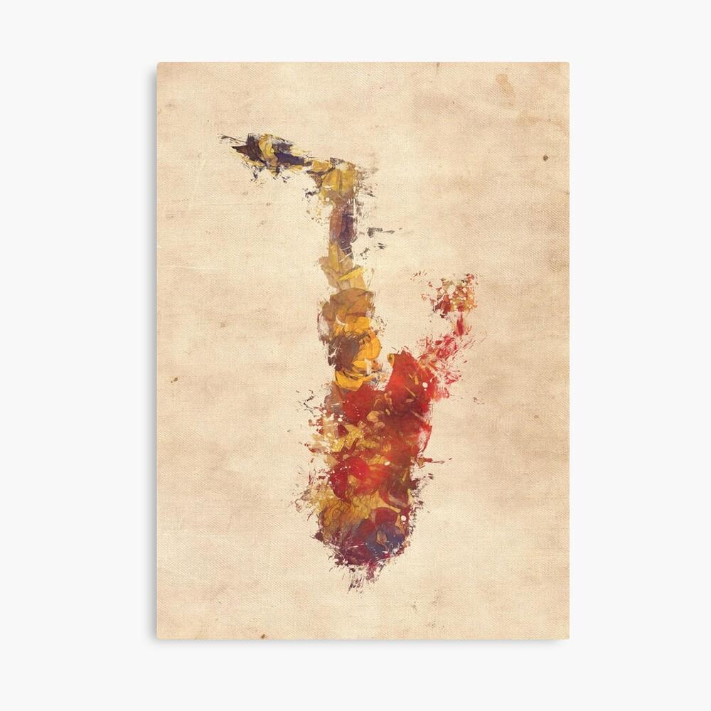 saxophone art Canvas Print