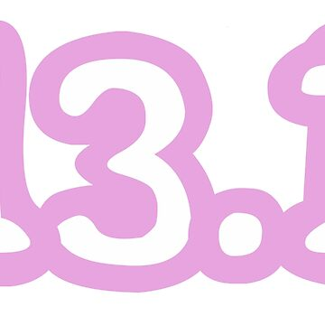 iRun 13.1 Pink Sticker by dcroffe