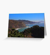 Overlooking Marin Headlands Greeting Card