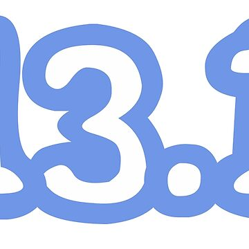 iRun 13.1 Blue Sticker by dcroffe
