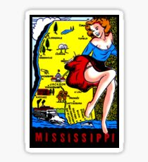Mississippi State Map Vintage Travel Decal Sticker