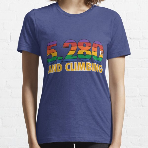 5,280 Ft. And Climbing (Throwback Outline) Essential T-Shirt