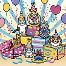 Party Cats by Lisann