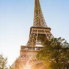 Sunlight Eiffel Tower - Eiffel Tower - Paris by Brixhood