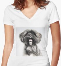 Lhasa Apso Lovers Women's Fitted V-Neck T-Shirt