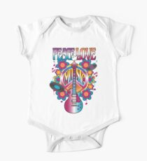 Peace, Love and Music One Piece - Short Sleeve