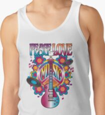 Frieden, Liebe und Musik Tanktop für Männer