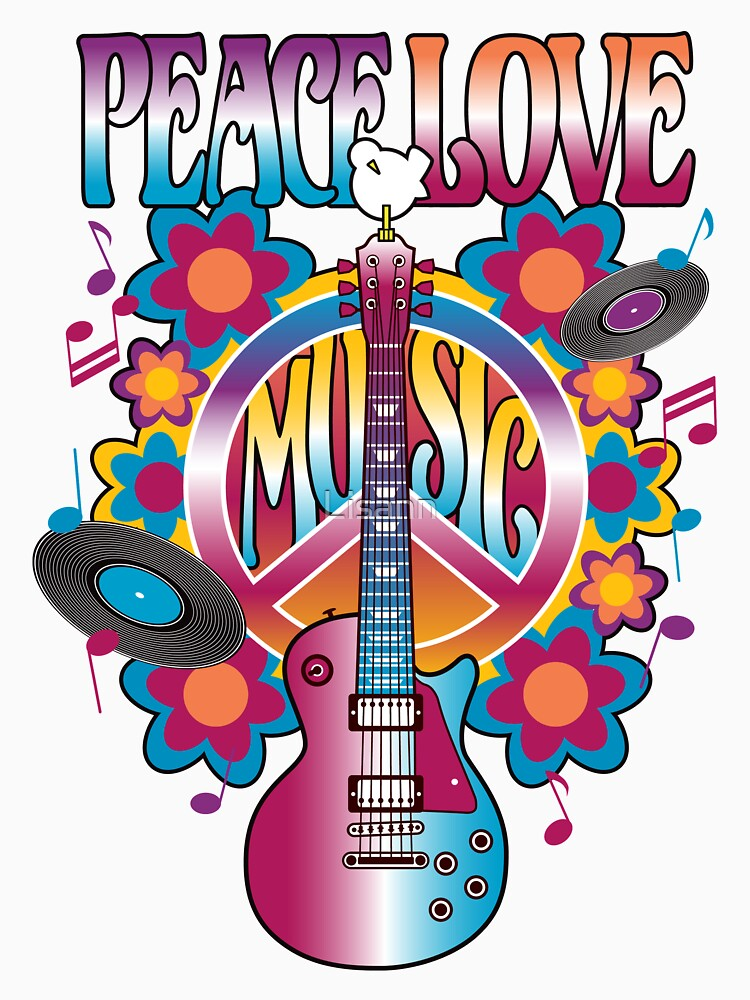 Peace, Love and Music | Classic T-Shirt