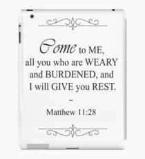 Matthew 11:28 Bible Verse iPad Case/Skin