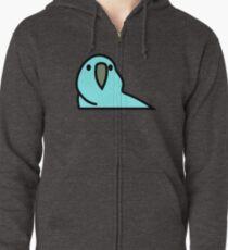 PartyParrot - Light Blue Zipped Hoodie