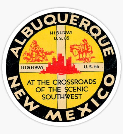 Albuquerque New Mexico Route 66 Vintage Sticker