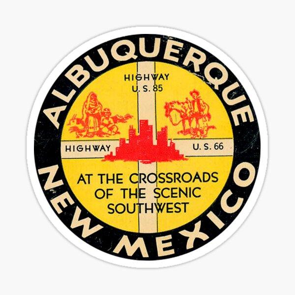 Albuquerque New Mexico Route 66 Vintage Sticker