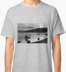 Sunrise over Nissaki - B&W Classic T-Shirt