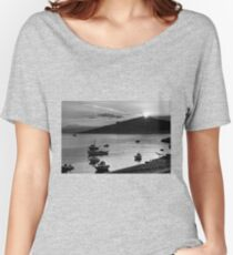 Sunrise over Nissaki - B&W Women's Relaxed Fit T-Shirt