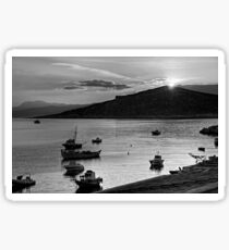 Sunrise over Nissaki - B&W Sticker