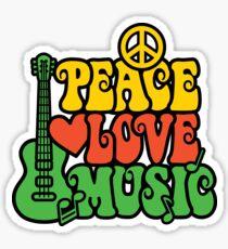 Reggae Peace-Love-Music Sticker