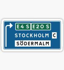 Stockholm-Södermalm Straßenschild, Schweden Sticker