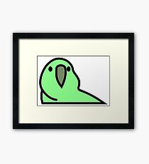 PartyParrot - Green Framed Print