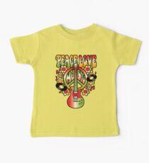 Peace-Love-Music Baby Tee