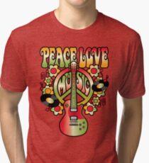 Peace-Love-Music Tri-blend T-Shirt