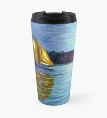 sailboats, sailing, wall art, nautical art, home decor, ocean painting Travel Mug