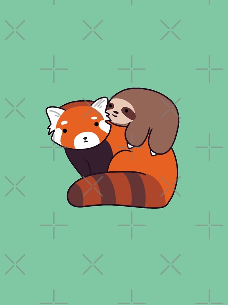 Little sloth and red panda