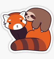 Little Sloth and Red Panda Sticker
