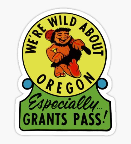 Oregon Grants Pass Vintage Travel Decal Sticker