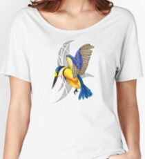 Sacred Kingfisher in flight Women's Relaxed Fit T-Shirt
