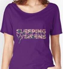 Sleeping with Sirens Flower Logo Women's Relaxed Fit T-Shirt