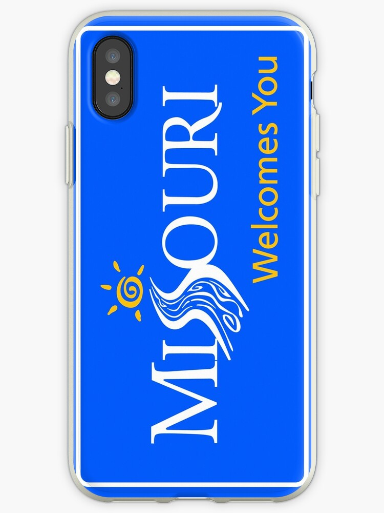 'Missouri Welcomes You Road Sign' iPhone Case by worldofsigns