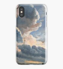 Study of Clouds with a Sunset near Rome - Simon Denis - ca. 1790 iPhone Case/Skin