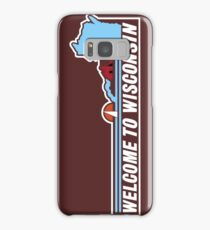 Welcome to Wisconsin, Road Sign, USA  Samsung Galaxy Case/Skin
